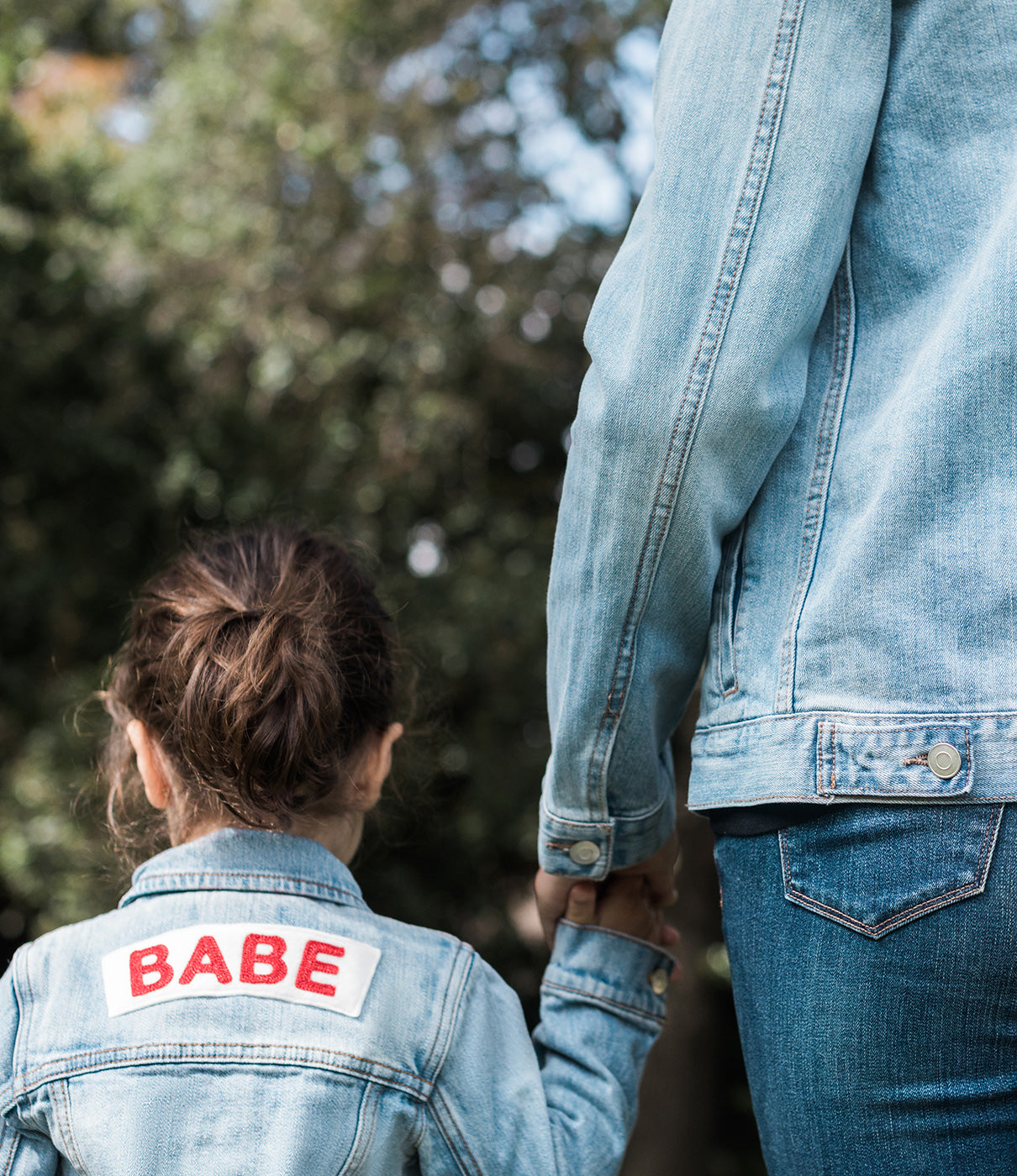 Make It a PairCheck out the BABE jacket for an adorable mommy-and-me look.
