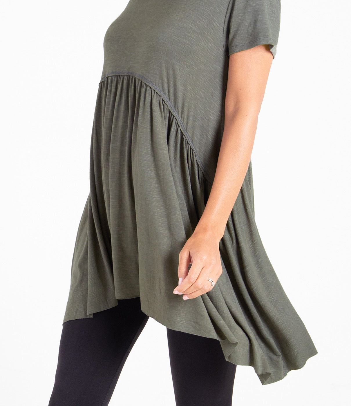 What It's Made OfUltrasoft and stretchy fabric to accommodate your changing belly and body.