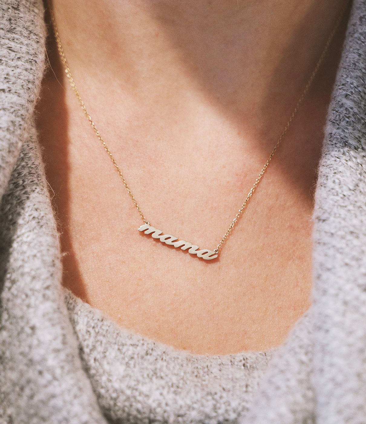 "Fashion + FunctionNecklace features 14k gold vermeil script that reads MAMA.  It is 16"" in length with a 1"" extender for adjustable wear."