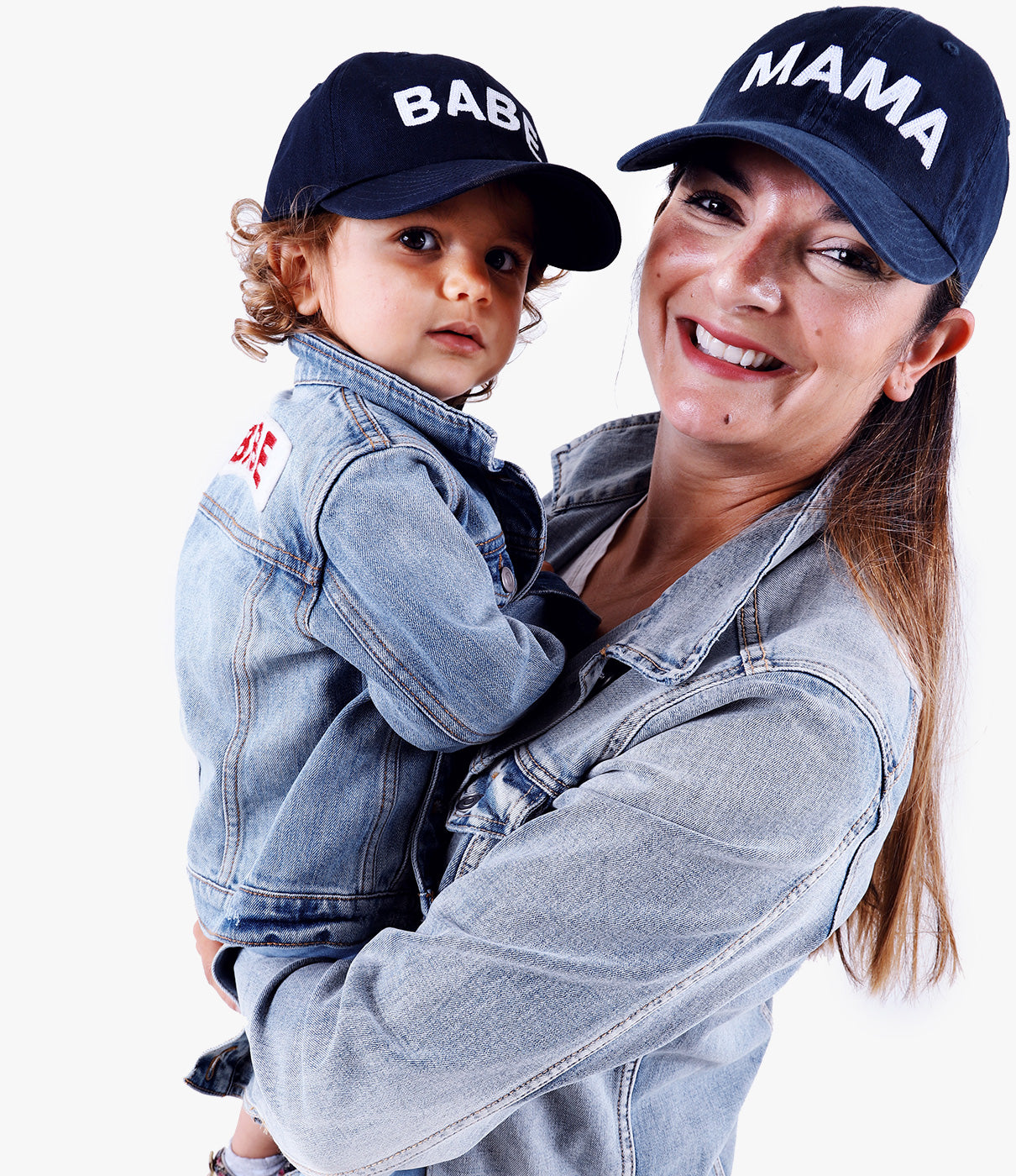 Match Even MoreCheck out the MAMA and BABE denim jackets to complete the outfit.