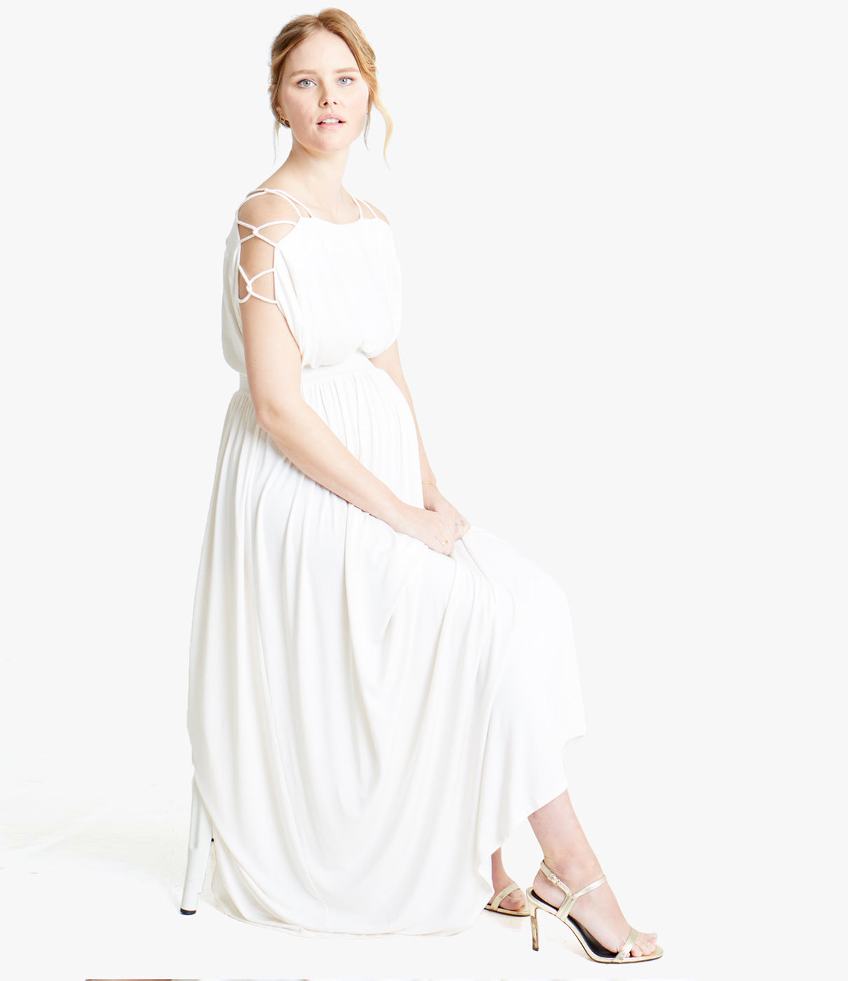 What It's Made OfUltra-soft modal knit fabric drapes beautifully over your bump.