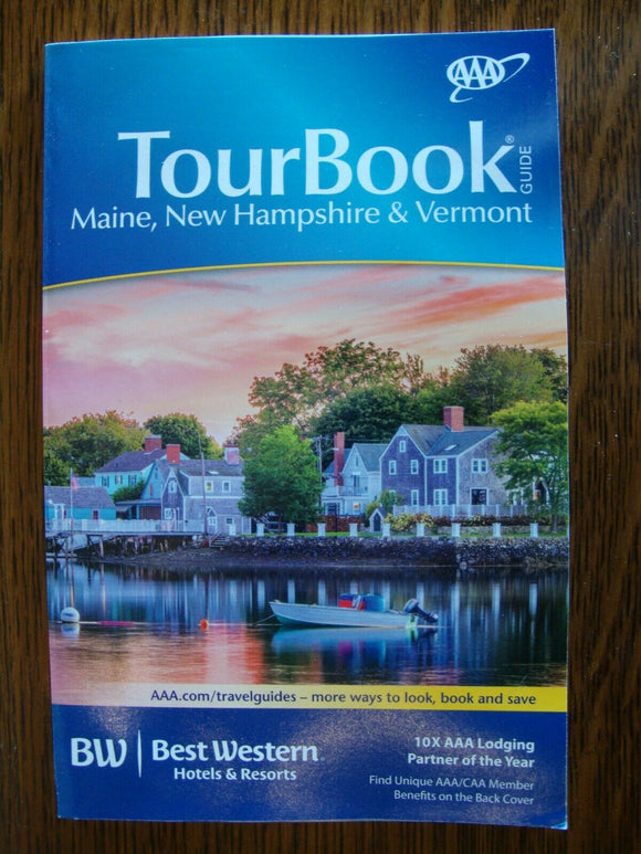 Tour Book Guide  AAA  Maine, New Hampshire, Vermont Paperback  352 pages 2014