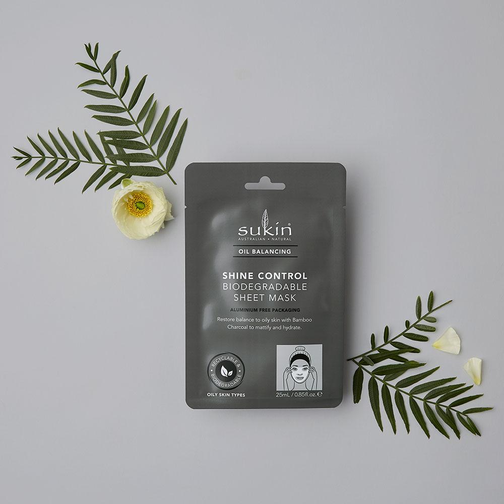 Shine Control Biodegradable Sheet Mask | Oil Balancing - Sukin Naturals USA