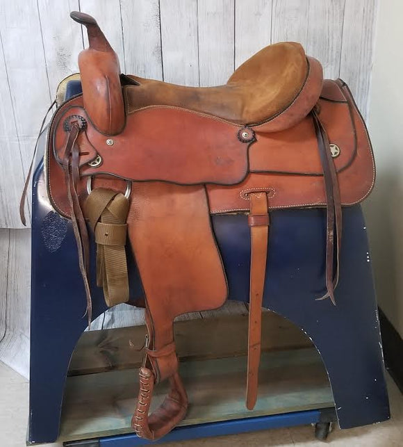 western saddle, used western saddle, huntsville horse sports, comfortable saddle, amish made western saddle