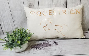 Metallic Equestrian Pillow
