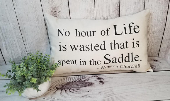 No Hour of Life Pillow