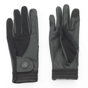 LuxeGrip Flex Vent Glove- Black