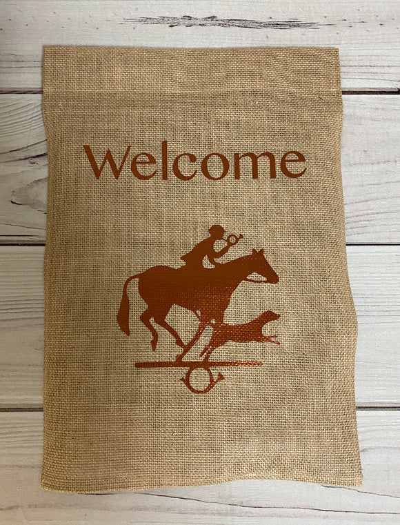 Equestrian Garden Flags- Fox Hunting