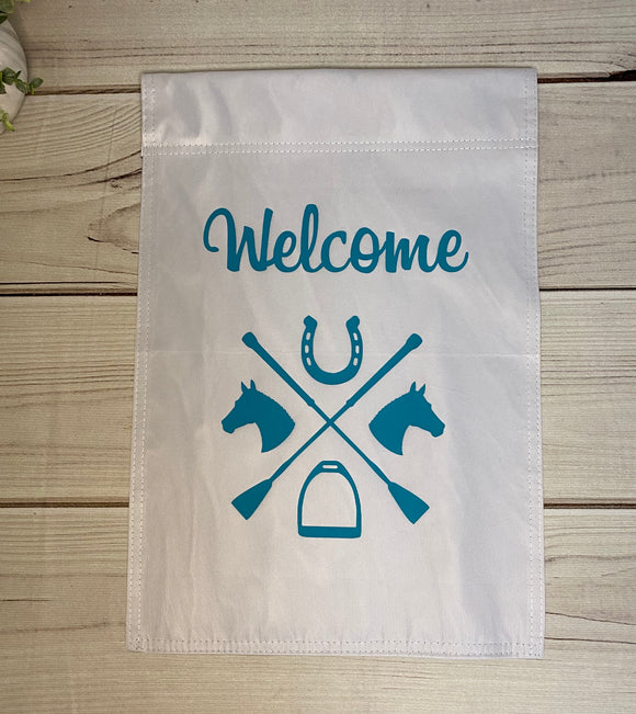 Equestrian Garden Flags- Welcome