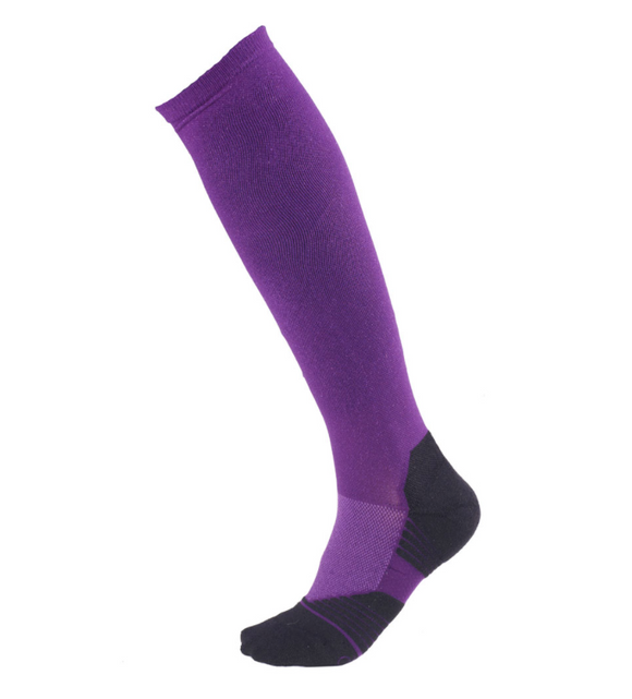 boot socks, purple socks, comfortable riding socks, tall socks, shaped foot socks, women's socks,