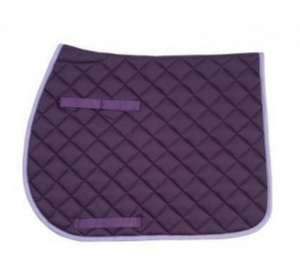all purpose saddle pad, saddle pad with girth straps, purple saddle pad, huntsville horse sports
