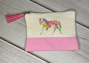 Small Zippered Bag with Tassel