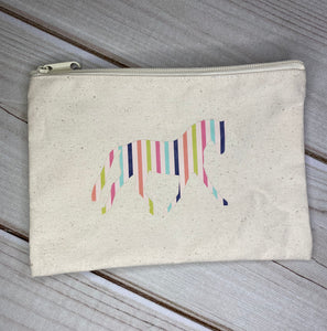 Multi-Color Horse Zippered Bag