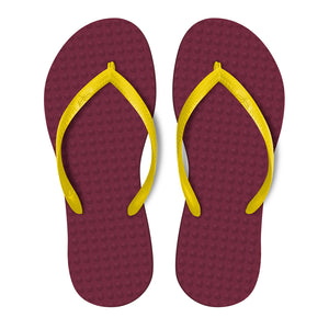 Women's Sustainable Flip Flops Açai with Banana Straps