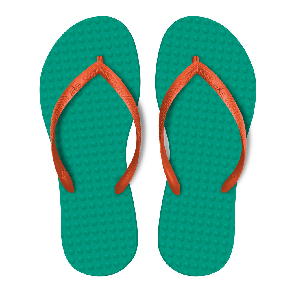 Emerald with Orange - Women's