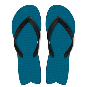 Men's Sustainable Flip Flops Fish Style Navy with Black Straps