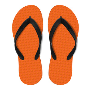 Men's Sustainable Flip Flops Orange with Black Straps