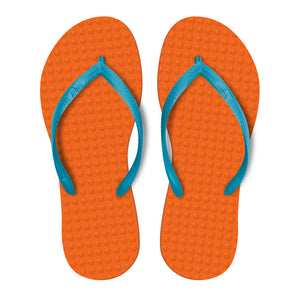 Orange with Turquoise - Women's
