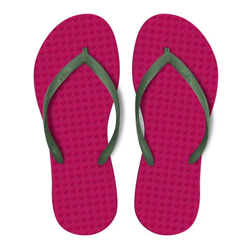 Fuchsia with Military Green - Women's