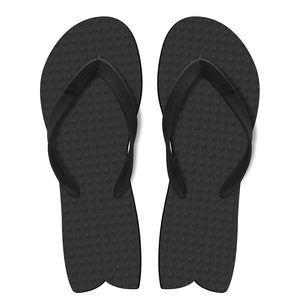 Men's Sustainable Flip Flops Fish Style Recycled Black with Recycled Black Straps