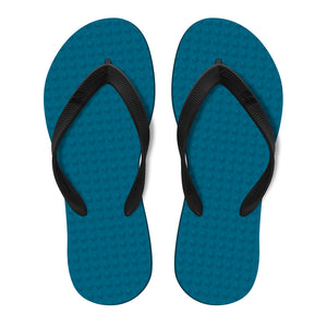 Men's Sustainable Flip Flops Navy with Black Straps