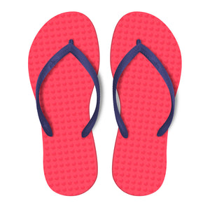 Women's Sustainable Flip Flops Watermelon with Purple Straps
