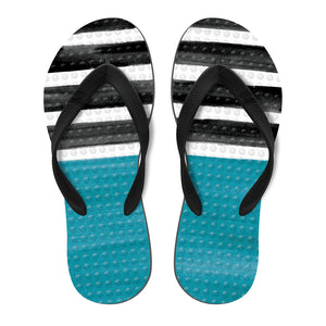 Men's Sustainable Flip Flops Nazare Print with Black Straps