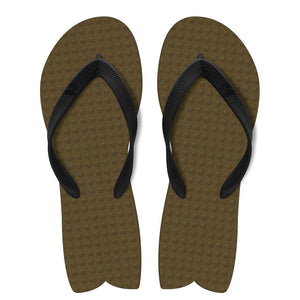 Men's Sustainable Flip Flops Fish Style Brown with Black Straps