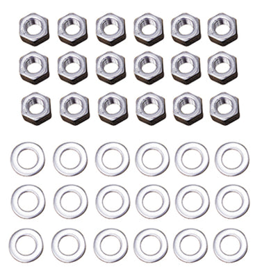 ROCKER ARM COVER HEX NUT KIT SH 66/84 CP NUTS & WASHERS RPLS HD 7753 6016 M#8608-36