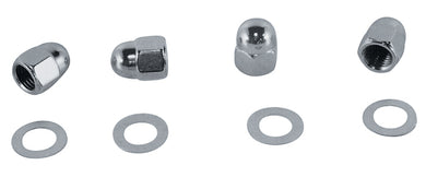 ROCKER SHAFT END NUT KIT SH,IHD SPT ALL YEARS CHROMED RPLS HD 6001 6466W 7522 7875