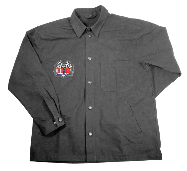 FIRE HOSE RIDING JACKET,LARGE 13 OZ COTTON CANVAS
