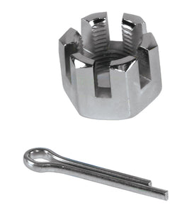 "CASTLE NUT FOR 3/4"" AXLE INCLUDES COTTLE PIN"