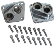 TAPPET BLOCK KIT,CHROME PLATED PANHEAD SHOVELHEAD ALL YRS W/ SCREWS RPL 18602-80A 18603-80A