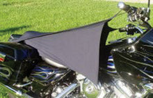 Load image into Gallery viewer, CYCLE SHADE MOTORCYCLE COVER FITS MOST MOTORCYCLES, BLACK 2 WAY STRETCHABLE,MFG# CS-1-B