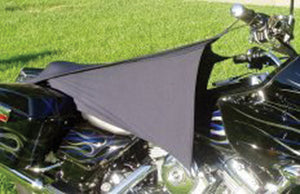 CYCLE SHADE MOTORCYCLE COVER FITS MOST MOTORCYCLES, BLACK 2 WAY STRETCHABLE,MFG# CS-1-B