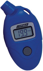 Digital Tire Pressure Gauge Displays 0/99 Psi In Tenth Lbs Increments, Plastic Housing