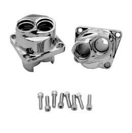 TAPPET BLOCK KIT,CHROME PLATED BIG TWIN EVO ALL YRS W/SCREWS RPLS HD 18622-85A & 18623-85A