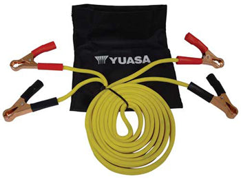 MOTORCYCLE JUMPER CABLES,8 FT INC STORAGE BAG,8 GAUGE TANGLE RESISTANT, YUA00ACC07