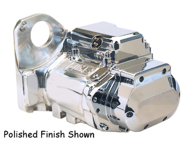 6 SPEED TRANSMISSION ASSEMBLY SOFTAIL 90/99,CAST FINISH W/CP TOP & SIDE COVERS,JIMS 8000C6