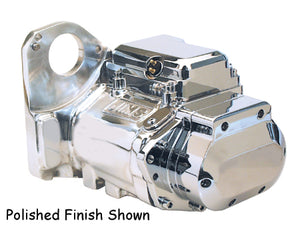 6 Speed Transmission Assembly Softail 90/99, Cast Finish W/CP Top and Side Covers, Jims 8000C6