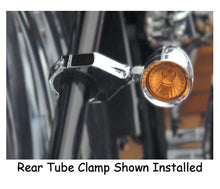 Load image into Gallery viewer, BULLET LIGHT SWING ARM MOUNTS FITS SOFTAIL SWING ARM & RIGID UW XL1 LED BULLET LIGHTS