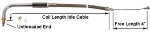 "IDLE CABLE, BLACK VINYL 32.5"" BIG TWIN 1996/LATER W/S&S ""E"" OR ""G"" CARB"