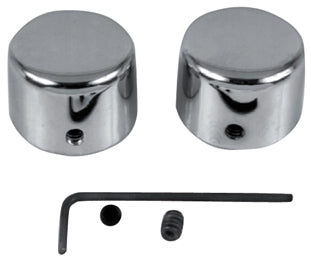 AXLE NUT COVER KIT,FRONT CP FXSTS 1988/LATER* - CHROME REPLACES HD 43894-90