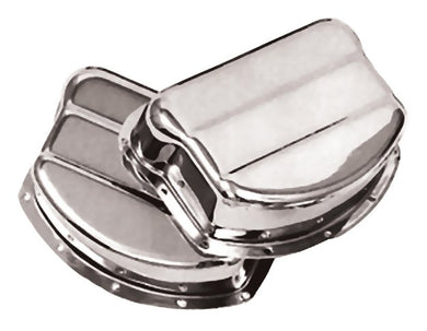 ROCKER ARM COVERS CHROME PANHEAD 1948/1965 STEEL RPLS HD17500-54 PAUGHCO #765