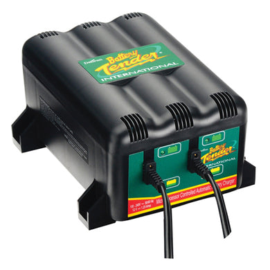 TWO BANK BATTERY CHARGER TWO 1.25 AMP CHARGERS,12 VOLTS DELTRAN# 022-0165-DL-WH