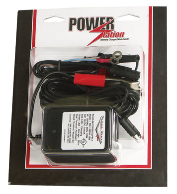 BATTERY CHARGER, AUTOMATIC 2 STAGE, 12 VOLT, 3/4 AMP PERMANENT & QUICK DISCONNECT