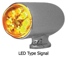 Load image into Gallery viewer, TURN SIGNAL LIGHT,BULLET STYLE UW/#13423 OR CUSTOM APP W/RED AND AMBER LENS 12V LED BULB,CP
