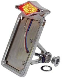 V-FACTOR DIAMOND LED TAILLIGHT/LICENSE MOUNTS FOR SOFTAIL & CUSTOM USE