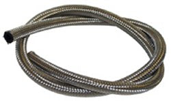 FUEL LINE,FLEXIBLE BRAIDED SS CUSTOM USE W/HOSE END/WORM CLP 10FTX1/4