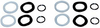 ROCKER ARM ADJUSTER KIT SHOVELHEAD 1966/1984 INCLUDES TEFLON SEALS,12 PIECE